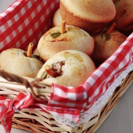 Almás kelt muffin