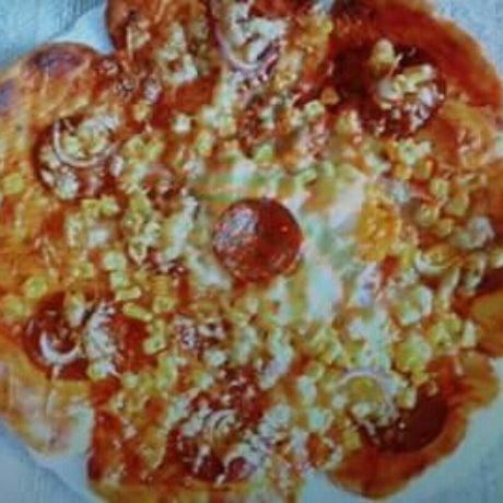Laktózmentes virág pizza