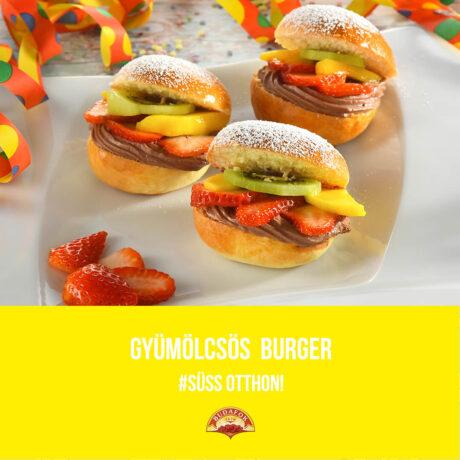 Gyümölcsös burger