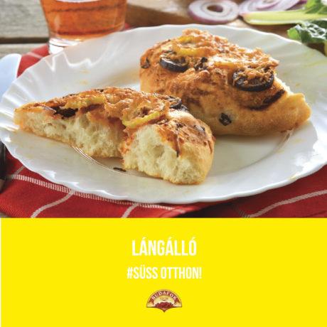Langalló (kenyérlángos, tökipompos)