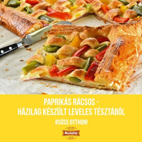 Paprikás rácsos – házilag készült leveles tésztából