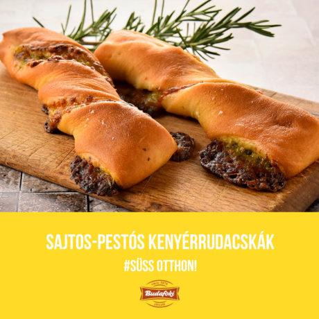 Sajtos-pestós kenyérrudacskák