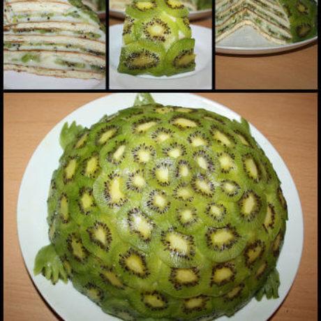 Smaragd teknős torta