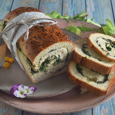 Spenótos – juhsajtos kenyér