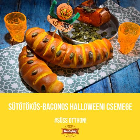 Sütőtökös-baconos halloweeni csemege