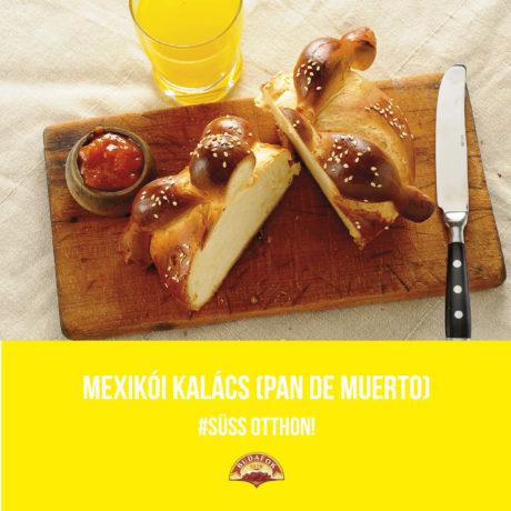 Mexikói kalács (Pan de muerto)