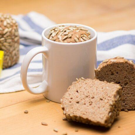 Szénhidrát csökkentett kenyér bögrében