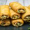 Zöldbabos-baconos párna